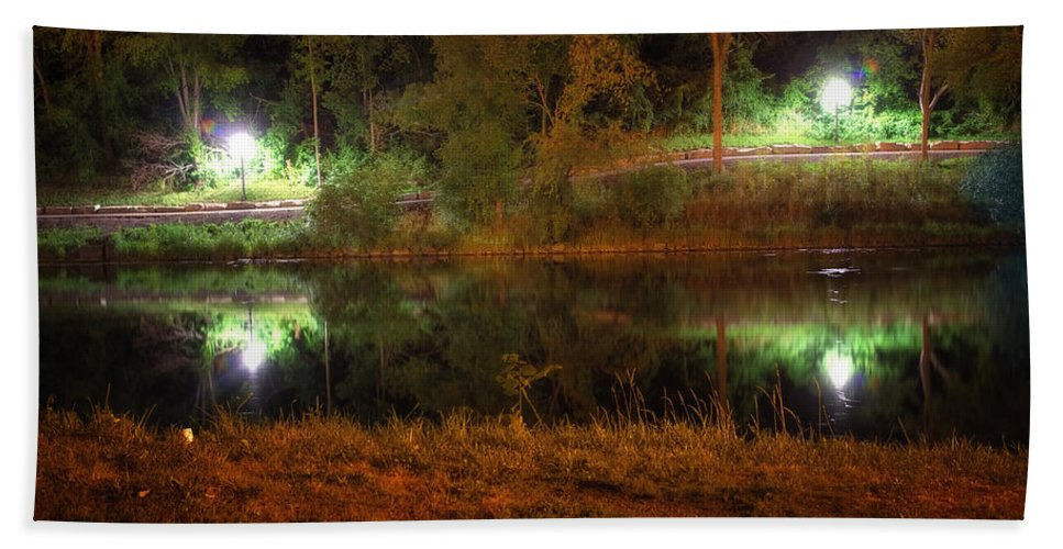 Acrylic Prints Bath Sheet featuring the photograph River Night Smooth by John Herzog
