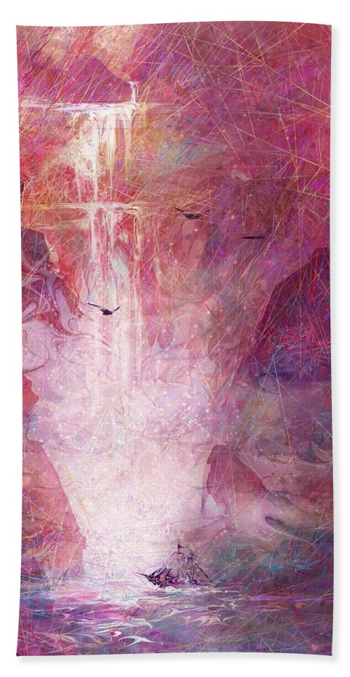 River Of Life Bath Sheet featuring the digital art River Of Life by Rachel Christine Nowicki
