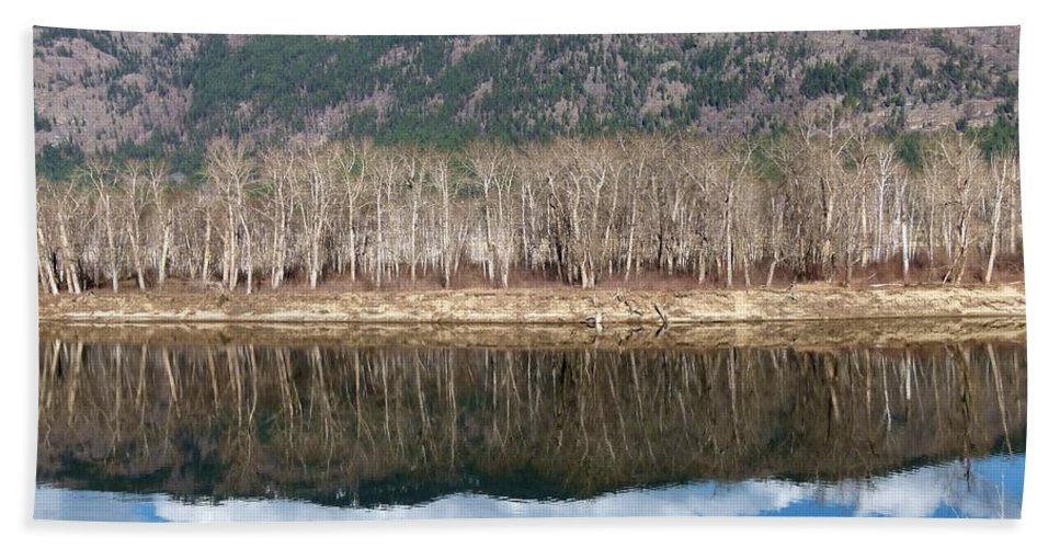 River Bath Sheet featuring the photograph River Reflections by Will Borden