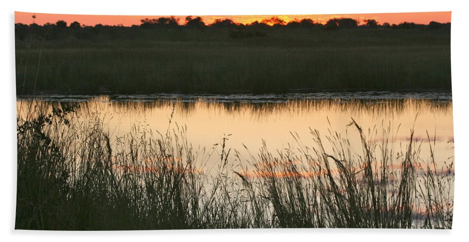 Karen Zuk Rosenblatt Art And Photography Bath Sheet featuring the photograph River Sunset by Karen Zuk Rosenblatt
