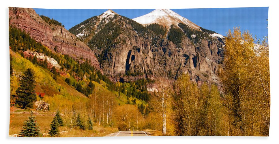 Fine Art Photography Bath Sheet featuring the photograph Road To Adventure by David Lee Thompson
