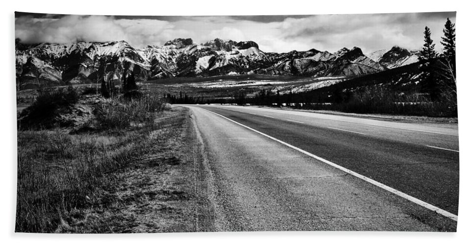 Street Photography Photographs Framed Prints Photographs Framed Prints Bath Sheet featuring the photograph Road To Rocks by The Artist Project