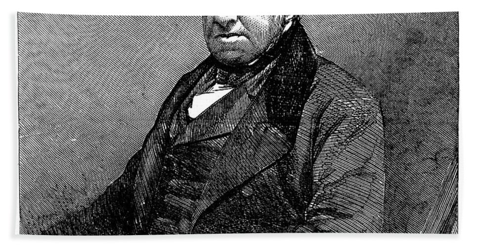 19th Century Hand Towel featuring the photograph Robert Brown (1773-1858) by Granger
