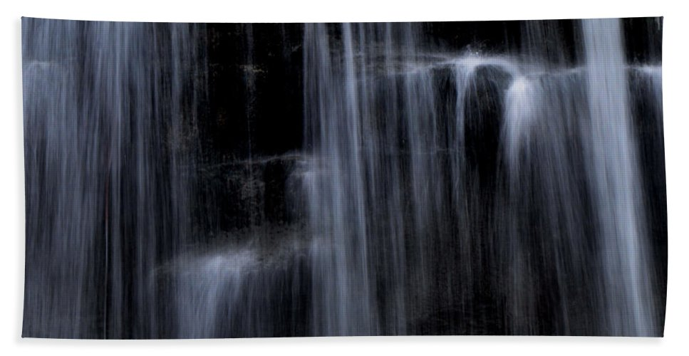 Water Falls Hand Towel featuring the photograph Rock Glen Water Falls by Ronald Grogan
