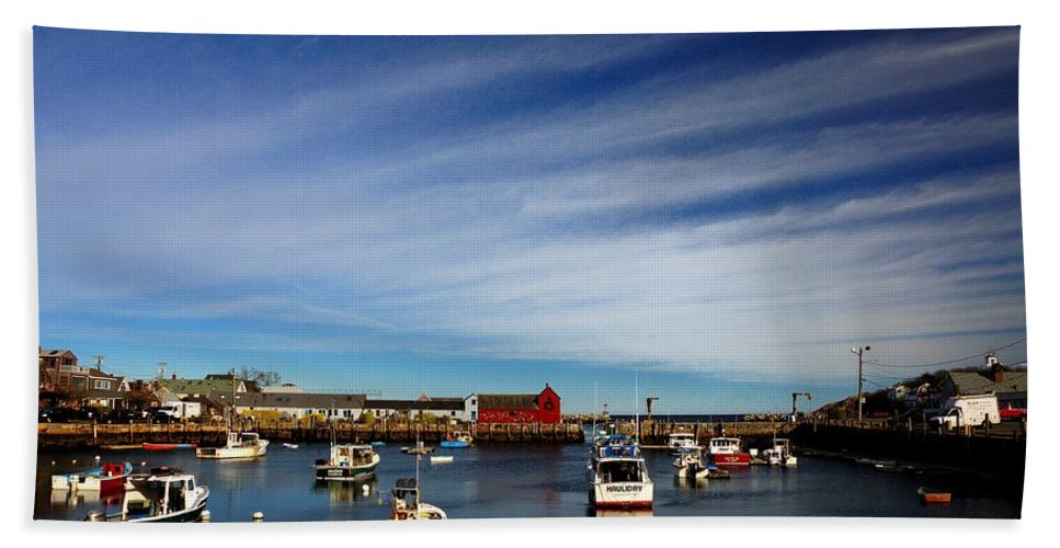 Rockport Bath Sheet featuring the photograph Rockport Massachusetts by Mark Valentine