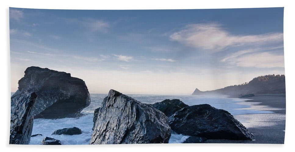 Seastacks Hand Towel featuring the photograph Rocks Of Dry Lagoon by Greg Nyquist