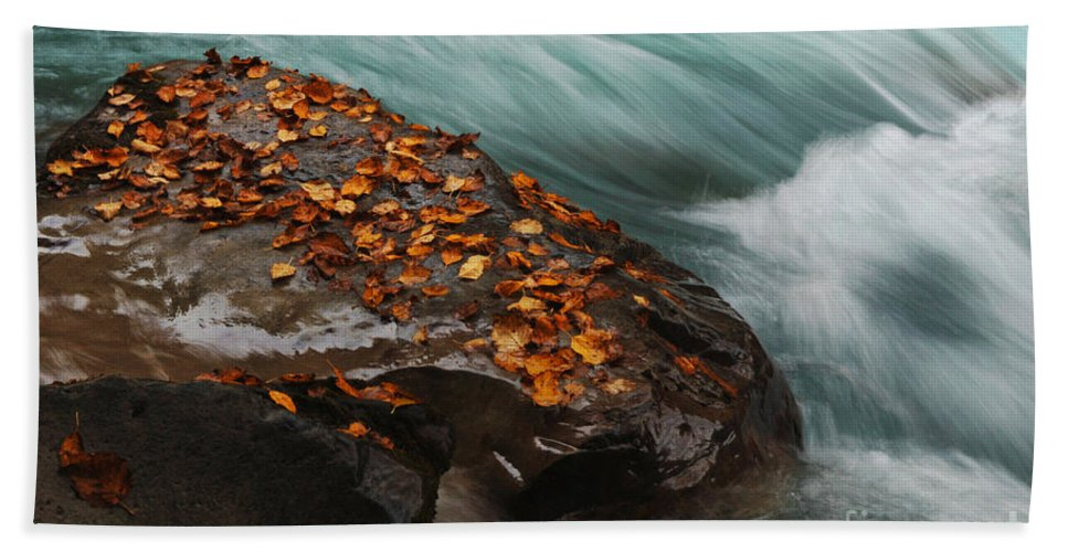 Canadian Rockies Bath Sheet featuring the photograph Rocky Mountain Stream by Bob Christopher