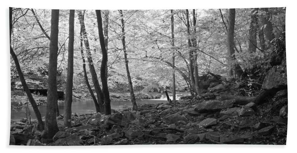 Rock Hand Towel featuring the photograph Rocky Road by David Troxel
