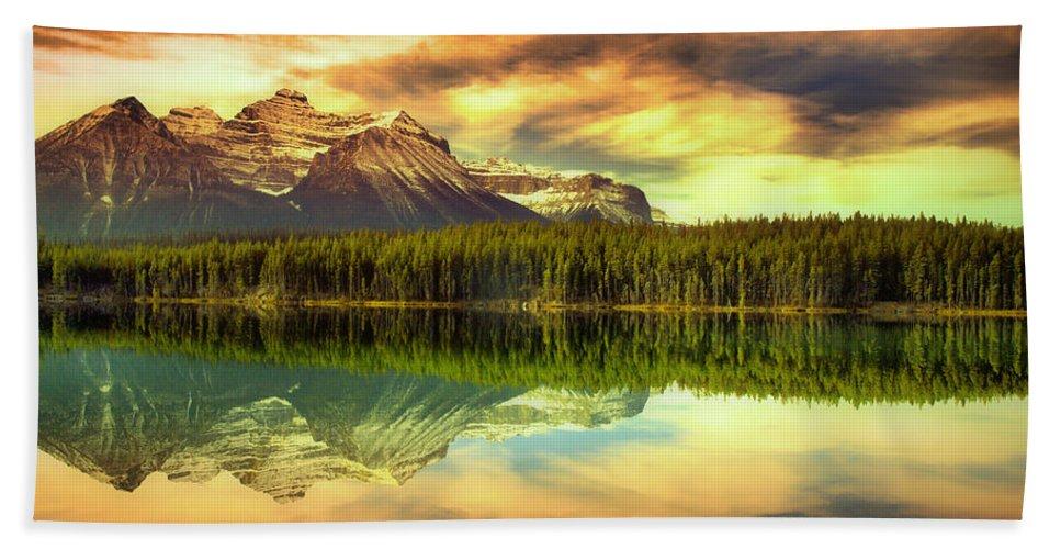 Banff Bath Sheet featuring the photograph Rocky Sunrise by Tara Turner