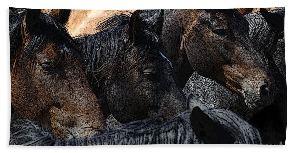 Rodeo Bath Sheet featuring the photograph Rodeo Bucking Stock by Bob Christopher