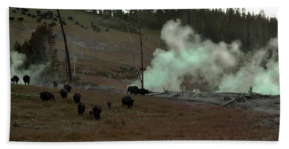 Buffalo Bath Sheet featuring the photograph Rolling Stampede by La Dolce Vita