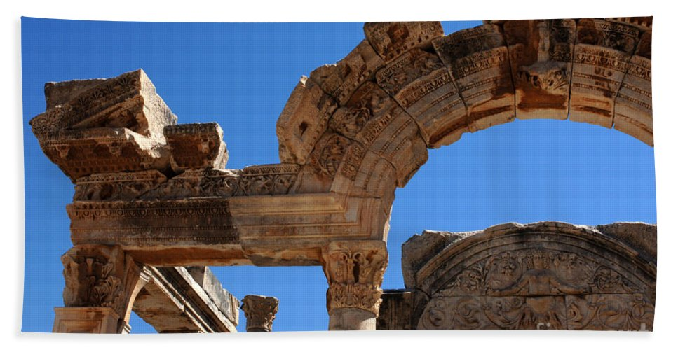 Ephesus Bath Sheet featuring the photograph Roman Arch Ephesus Turkey by Bob Christopher