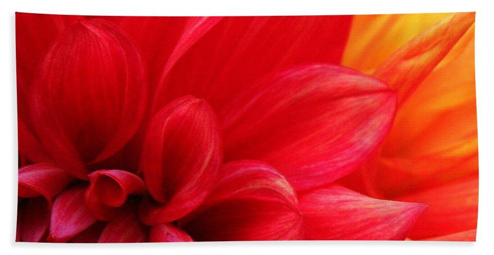 Red Flower Bath Sheet featuring the photograph Romance by Matthew Wilson