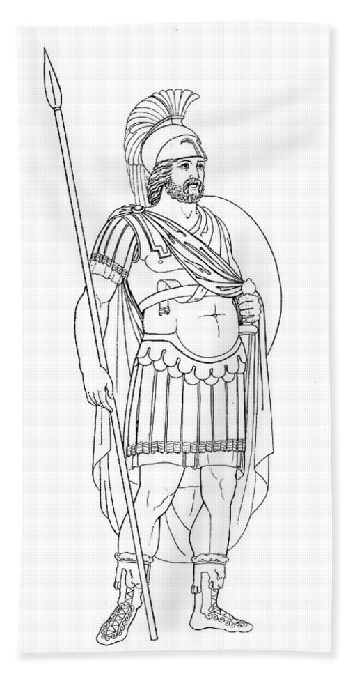 4th Century Bath Sheet featuring the photograph Rome: Army General by Granger