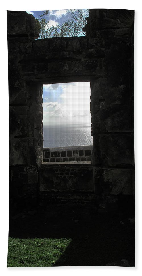 Brimstone Bath Sheet featuring the photograph Room With A Seaview by Ian MacDonald