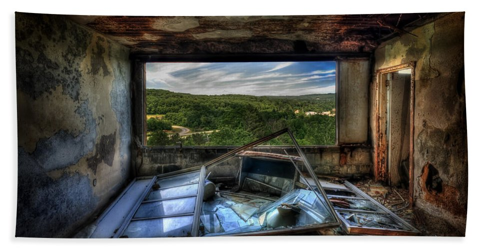 Abandoned Bath Sheet featuring the photograph Room With A View by Evelina Kremsdorf