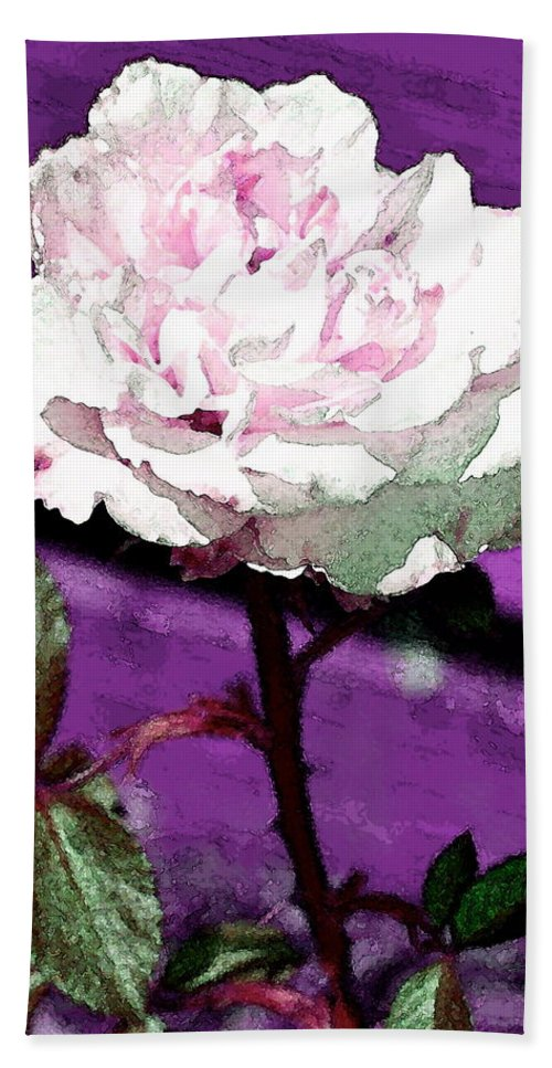 Floral Hand Towel featuring the photograph Rose 108 by Pamela Cooper