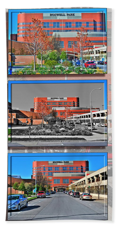 Hand Towel featuring the photograph Roswell Park Cancer Institute by Michael Frank Jr
