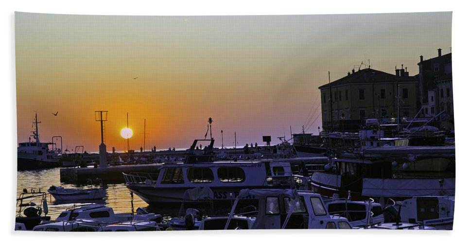 Rovinj Bath Sheet featuring the photograph Rovinj Sunset by Madeline Ellis
