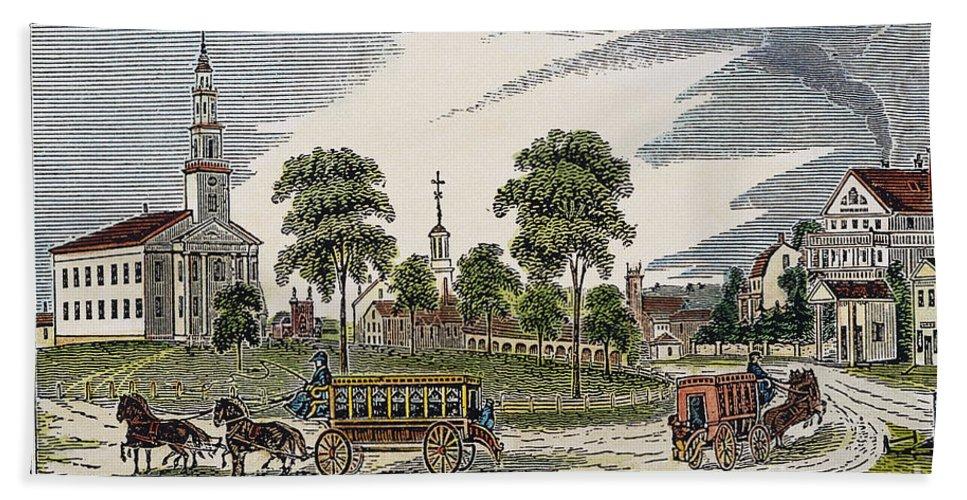 1839 Hand Towel featuring the photograph Roxbury, Massachusetts by Granger
