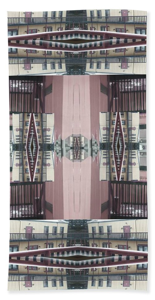 Contemporary Architecture Hand Towel featuring the digital art Royal Gorge by Dee Fabian