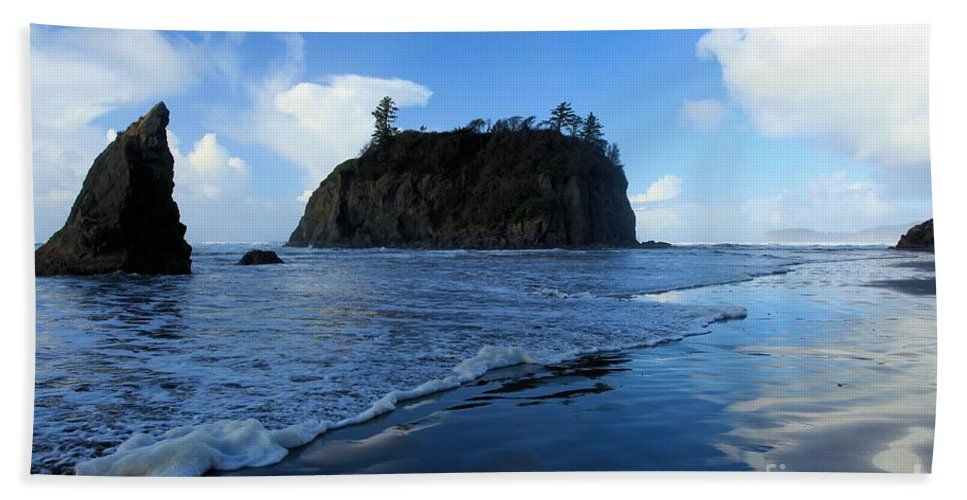 Ruby Beach Hand Towel featuring the photograph Ruby Blues by Adam Jewell