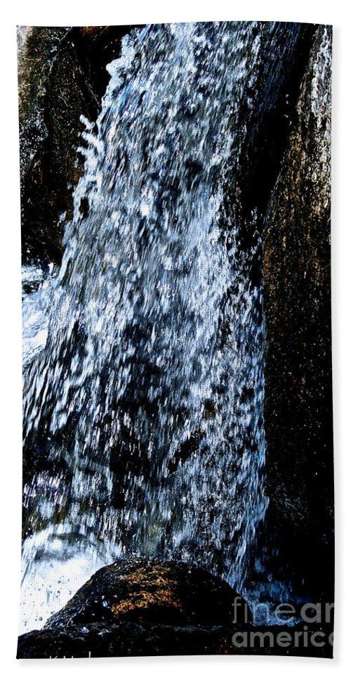 Water Bath Sheet featuring the photograph Running Water by Susan Herber