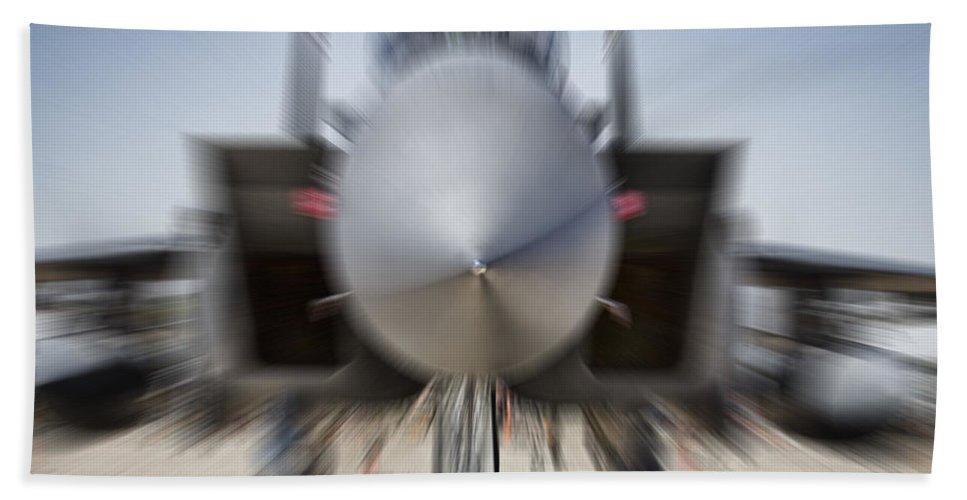 Boeing F-15sg Eagle Bath Sheet featuring the photograph Runway Speed V2 by Douglas Barnard
