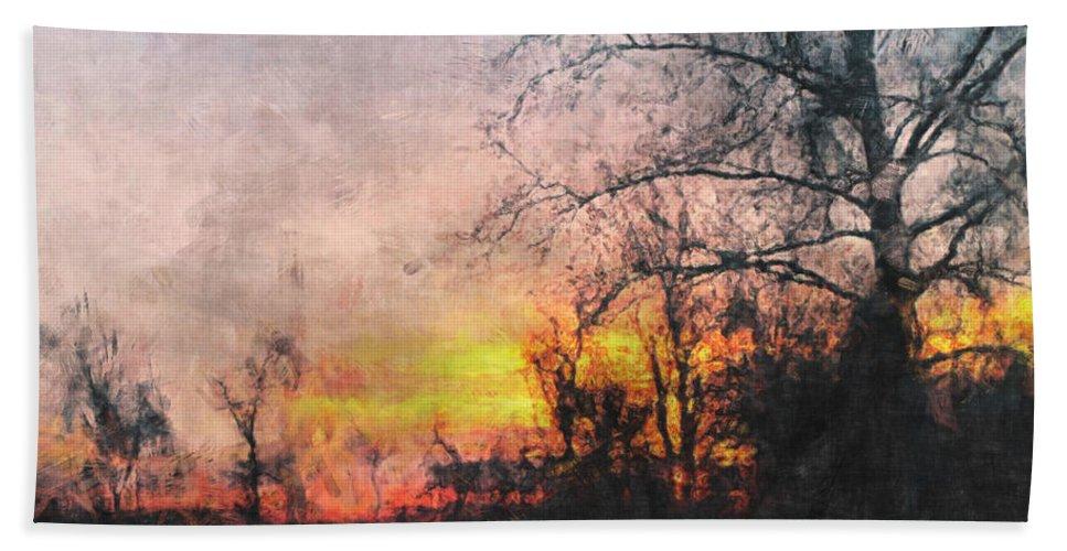 Sun Bath Sheet featuring the photograph Rural Sunset Art by Debbie Portwood