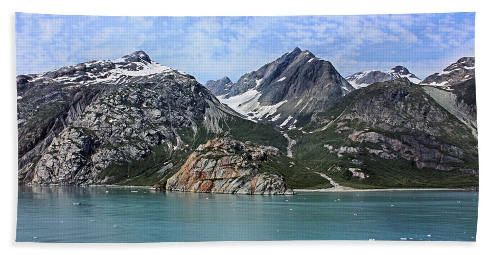 Glacier Bay Bath Sheet featuring the photograph Russell Island by Kristin Elmquist