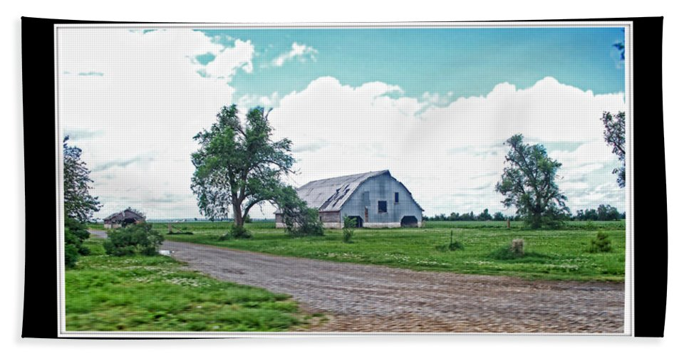 Bath Sheet featuring the photograph Rustic Barn Scene by Debbie Portwood