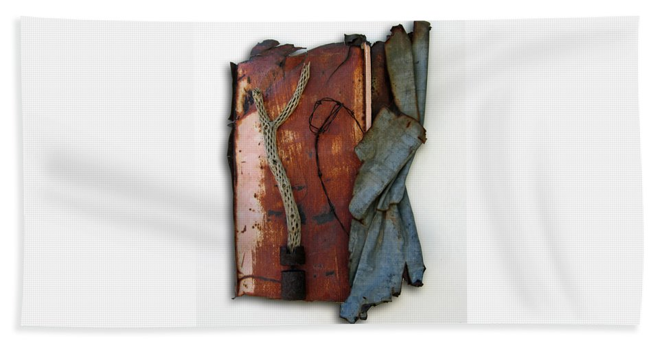 Assemblage Sculptures Bath Sheet featuring the sculpture Rustic Elegance by Snake Jagger