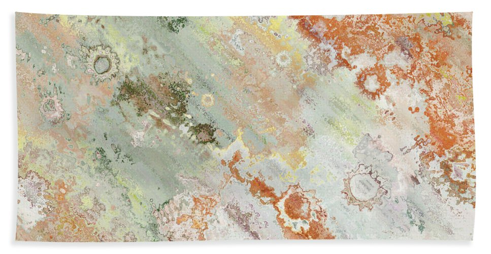 Abstract Bath Sheet featuring the digital art Rustic Impression by Debbie Portwood