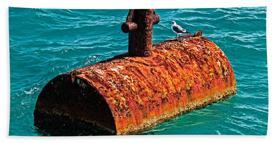 Rust Bath Sheet featuring the photograph Rusty Bobber by Christopher Holmes