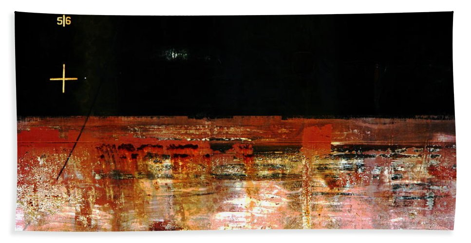 Rust Bath Sheet featuring the photograph Rusty Layers by Stephen Mitchell