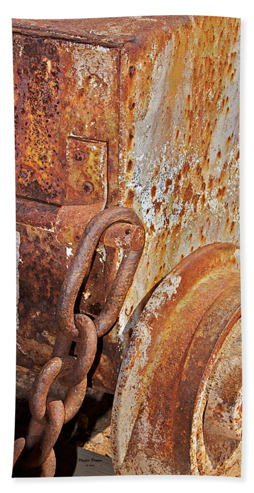 Ore Car Bath Sheet featuring the photograph Rusty Metal by Phyllis Denton