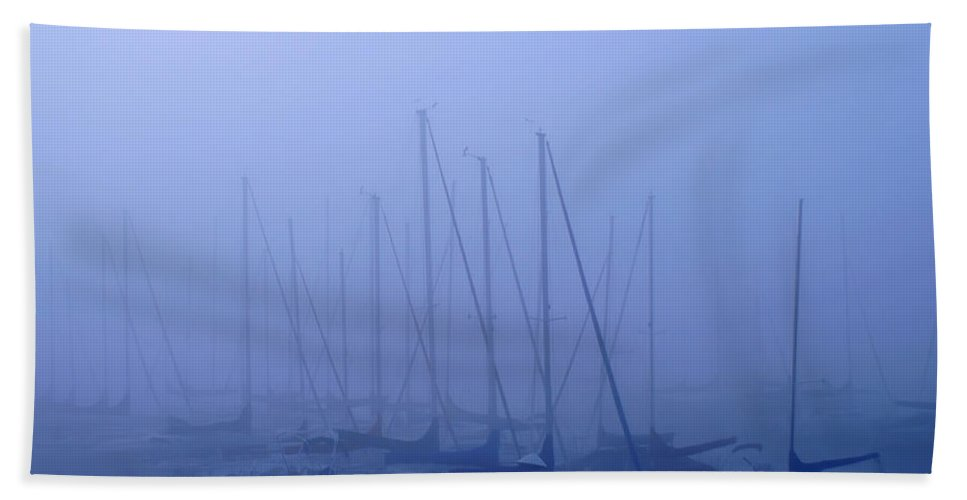 Sailboat Blues Hand Towel featuring the photograph Sailboat Blues by Randall Branham