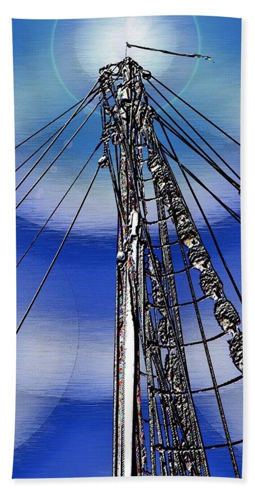 Sailor Bath Sheet featuring the digital art Sailors Beck And Call by Tim Allen