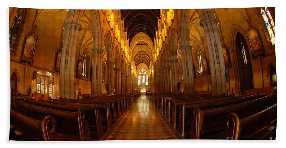 Australia Bath Sheet featuring the photograph Saint Marys Church Interior 3 by Bob Christopher