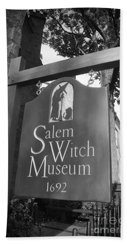 Salem Massachusetts Bath Sheet featuring the photograph Salem Witch Museum by Brittany Horton