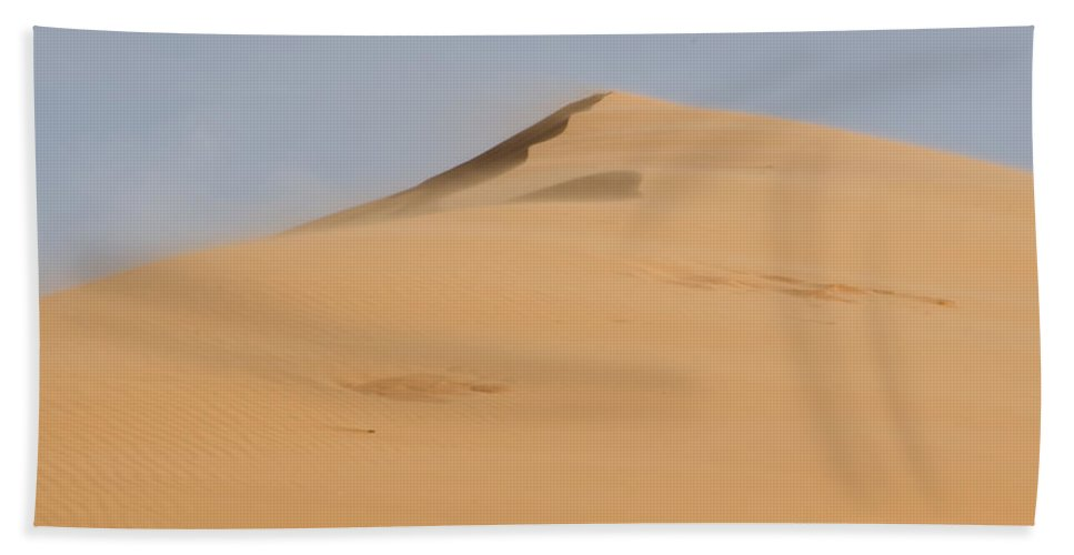 Coral Pink Sand Dunes Bath Sheet featuring the photograph Sand Dune by Heather Applegate