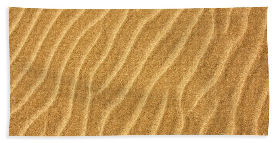 Sand Hand Towel featuring the photograph Sand Ripples Abstract by Elena Elisseeva