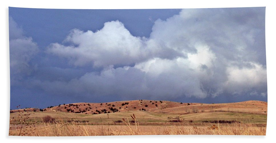 Nebraska Hand Towel featuring the photograph Sandhill Skies by Christian Mattison