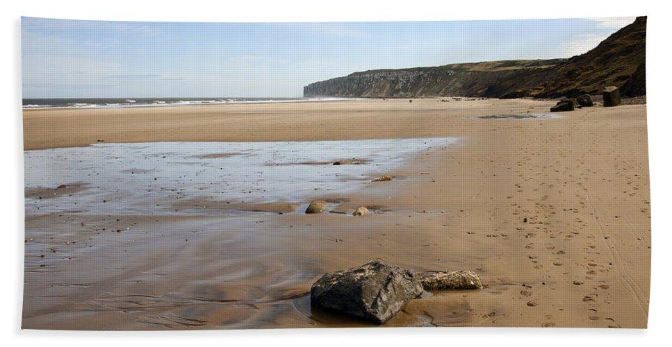 Bay Bath Sheet featuring the photograph Sandy Beach by Svetlana Sewell