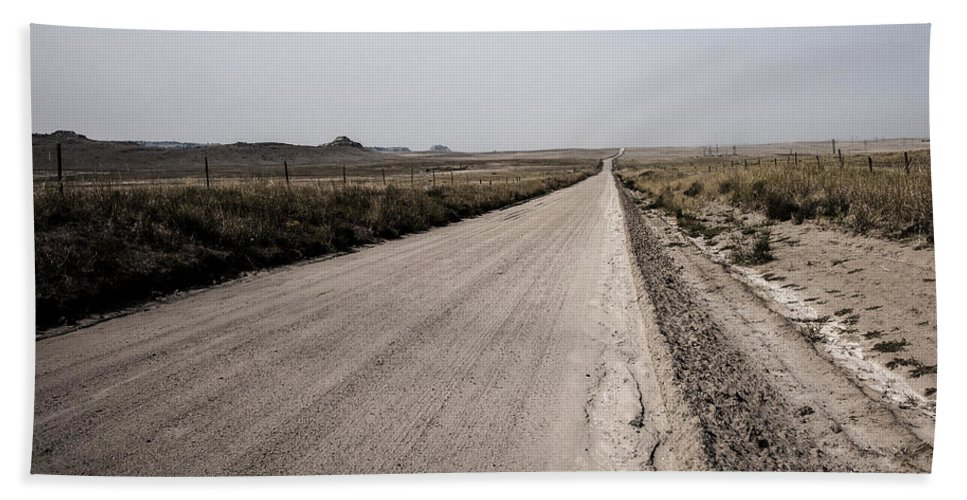 Western Nebraska Hand Towel featuring the photograph Sandy Road by Edward Peterson