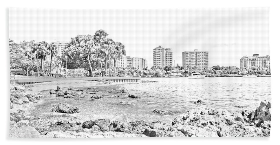 Sarasota Bath Sheet featuring the photograph Sarasota Sketch by Betsy Knapp