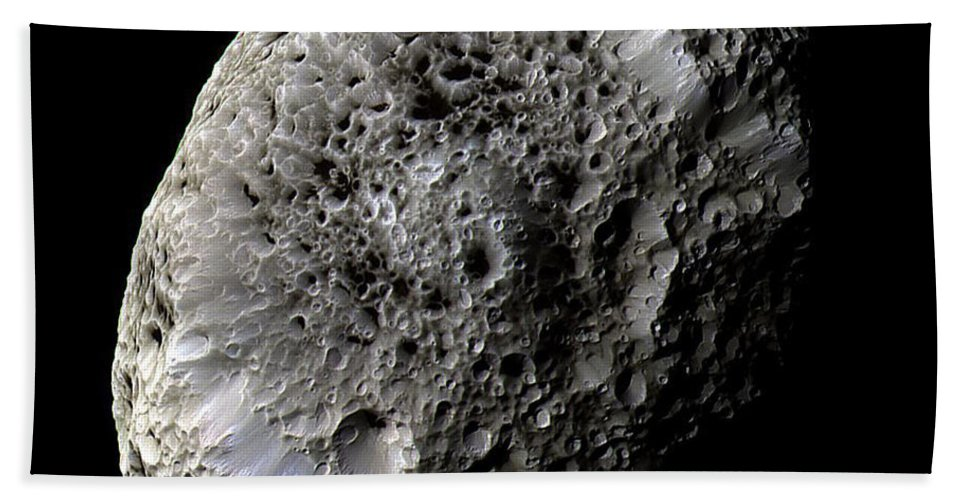 Nasa Hand Towel featuring the photograph Saturns Moon Hyperion by Nasa