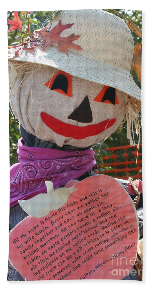 Outdoors Hand Towel featuring the photograph Scarecrow Andy by Susan Herber