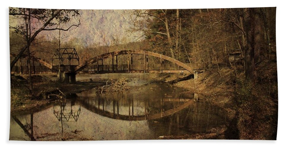 Bridge Bath Sheet featuring the photograph Schnecksville by Trish Tritz