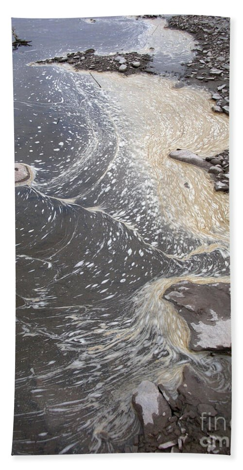 Sea Hand Towel featuring the photograph Sea Foam And Algae by Ted Kinsman